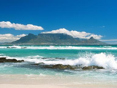 Coastline View of Table Mountain_ South Africa