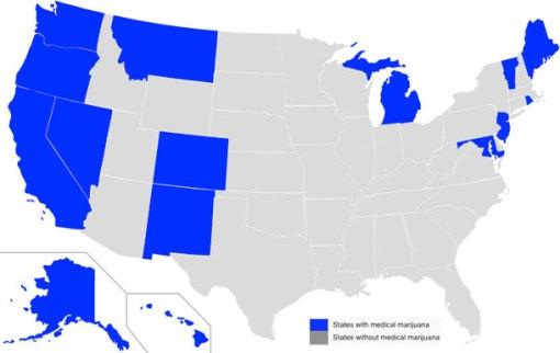 lääkekannabiksen laillistaneet osavaltiot